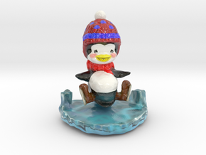Slippy the Penguin in Coated Full Color Sandstone