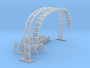LU Cable Gantry in Smooth Fine Detail Plastic