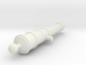 1:24 scale 3/4lb Swivel gun (no handle) in White Natural Versatile Plastic