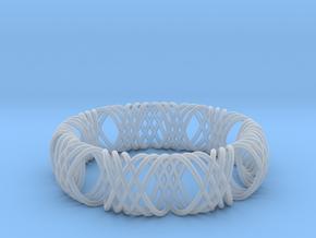 bracelet spirals 1 in Smooth Fine Detail Plastic