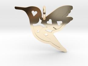 Pendant 'Bird' in 14k Gold Plated Brass