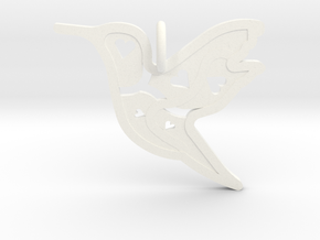Pendant 'Bird' in White Processed Versatile Plastic
