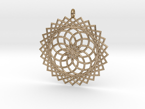 Flower of Life - Pendant 1 in Polished Gold Steel