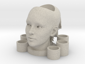 2 Heads Multi-candle Holder in Natural Sandstone
