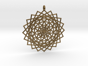 Flower of Life - Pendant 5 in Polished Bronze