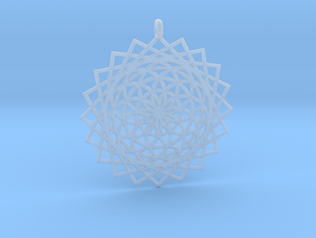 Flower of Life - Pendant 5 in Smooth Fine Detail Plastic