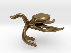 Motivational Octopus Handpet in Natural Bronze