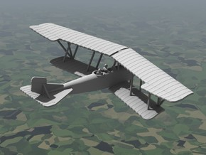 Lohner B.VII (unarmed, various scales) in Gray PA12: 1:144