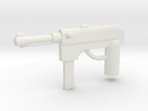 MP40 Minifigure Gun 1.0 in White Natural Versatile Plastic