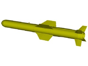 1/18 scale MDD AGM-84A Harpoon missile x 1 in Smooth Fine Detail Plastic