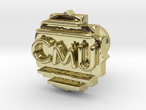 Cufflink Final in 18k Gold