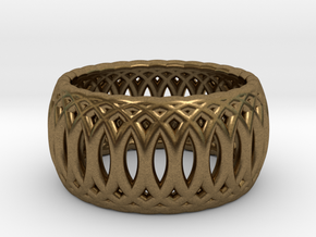 Ring of Rings - 18mm Diam in Raw Bronze