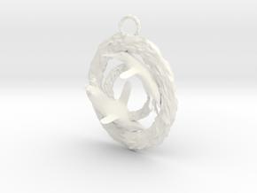 Penguin pendant in White Processed Versatile Plastic