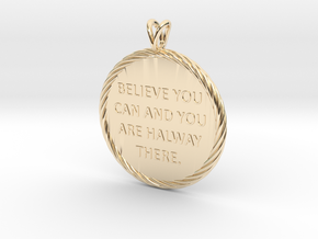 Believe you can | Quote Necklace, Pendant in 14K Yellow Gold