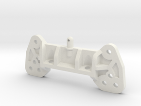 0016 - Top Force J10, Front Shock Tower Mount in White Natural Versatile Plastic