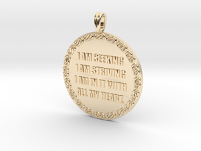 I AM SEEKING I AM STRIVING | Quote Necklace in 14K Yellow Gold
