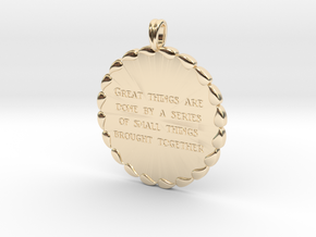 Great Things Are Done | Jewelry Quote Necklace. in 14K Yellow Gold