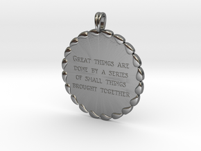 Great Things Are Done | Jewelry Quote Necklace. in Polished Silver