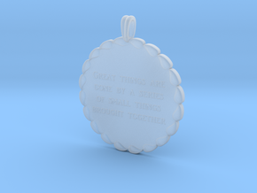 Great Things Are Done | Jewelry Quote Necklace. in Smooth Fine Detail Plastic