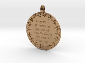 In The Hopes Of Reaching | Jewelry Quote Necklace in Polished Brass