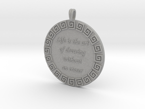 Life Is The Art Of Drawing | Jewelry Quote Pendant in Aluminum
