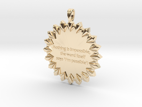 Nothing Is Impossible | Jewelry Quote Necklace. in 14K Yellow Gold