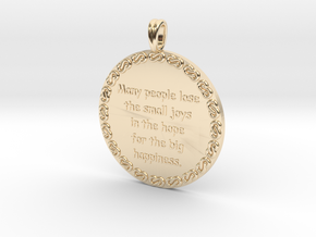 Many People Lose | Jewelry Quote Necklace. in 14K Yellow Gold
