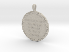 Many People Lose | Jewelry Quote Necklace. in Natural Sandstone