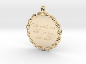 The Earth Has Music | Jewelry Quote Necklace. in 14K Yellow Gold