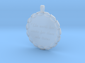 The Earth Has Music | Jewelry Quote Necklace. in Smooth Fine Detail Plastic
