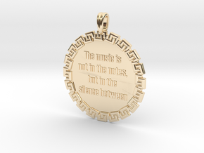 The Music Is Not In The | Jewelry Quote Necklace in 14K Yellow Gold