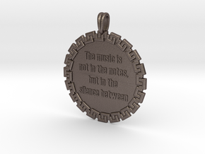 The Music Is Not In The | Jewelry Quote Necklace in Stainless Steel