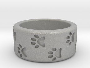 Cat Pawprints Ring in Aluminum