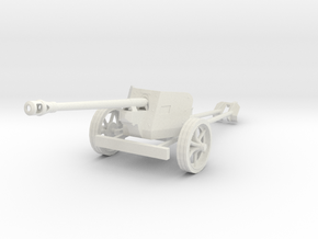 1/48 28mm scale Pak40 german anti tank gun in White Natural Versatile Plastic