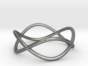 Size 6 Infinity Ring in Fine Detail Polished Silver