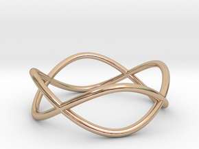 Size 8 Infinity Ring in 14k Rose Gold Plated Brass