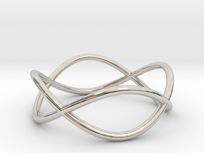 Size 10 Infinity Ring in Rhodium Plated Brass