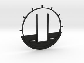 DeAgo Cockpit Backwall for Paragrafix PE set in Black Natural Versatile Plastic