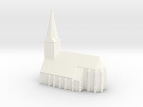De Grote Kerk van Epe in White Processed Versatile Plastic