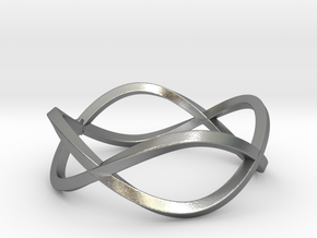 Size 8 Infinity Twist Ring in Natural Silver
