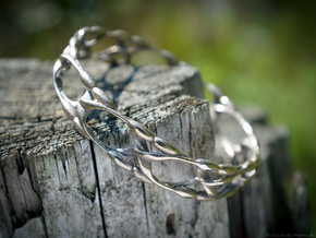 Garden Bangle in Polished Bronzed Silver Steel