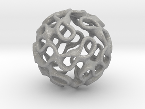 Gyroid Inversion Sphere in Aluminum