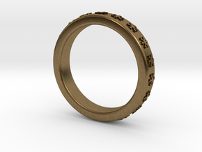 Ring With Snowflake Motif Ø18 mm/0.708 inch in Natural Bronze