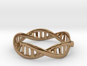 DNA Bracelet (Medium) in Polished Brass