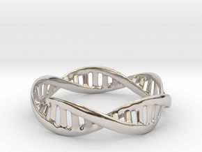 DNA Bracelet (Medium) in Rhodium Plated Brass