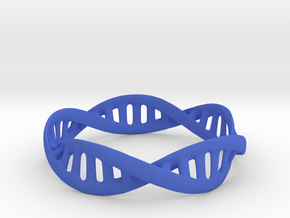 DNA Bracelet (Medium) in Blue Processed Versatile Plastic