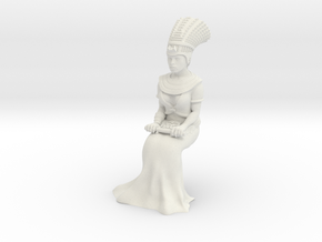 28mm Cleopatra Sitting down in White Natural Versatile Plastic