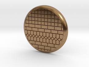 28mm Base - Tiled floor  in Natural Brass