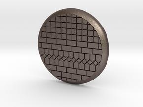28mm Base - Tiled floor  in Polished Bronzed Silver Steel