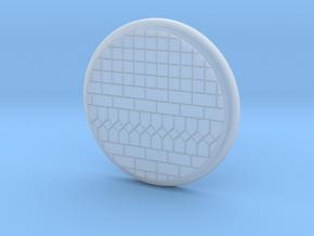 28mm Base - Tiled floor  in Smooth Fine Detail Plastic